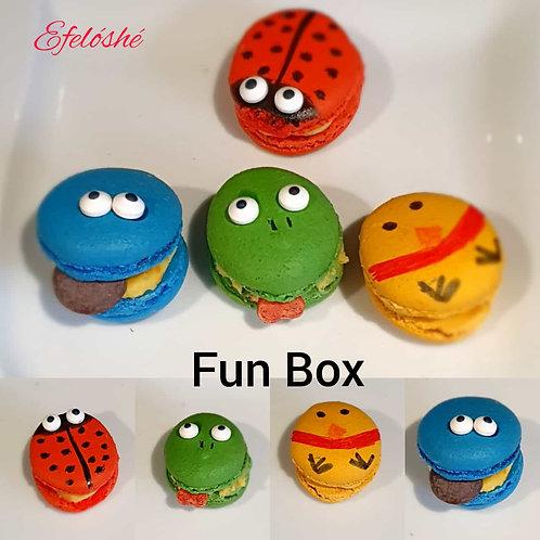 Kids Fun box of 4 Novelty Macarons