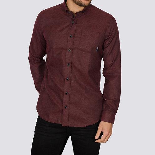 Brushed Flannel Alaska shirt - Burgandy
