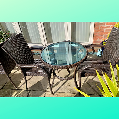 Pre-Loved - Circular Table with 2 Chairs