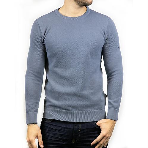 Montana Long sleeved knitted - slate blue