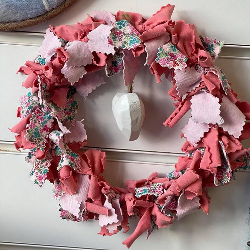 by Tonya - Pink Wreath with White Heart