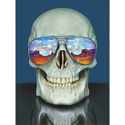 Skull Into The Valley Of The Gods - Christopher Green