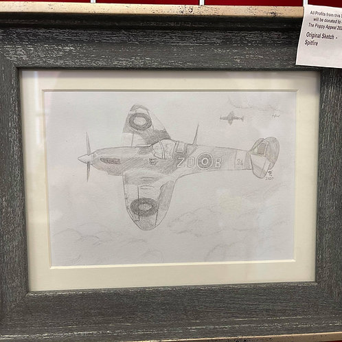 by Tonya - Original Sketch -Spitfire