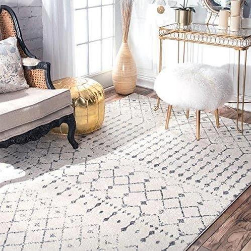Bodrum Rugs - Low Pile - Off White & Grey