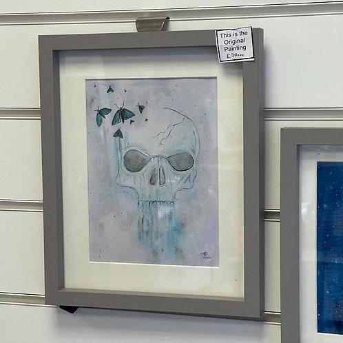 by Tonya - Original Painting - Skull