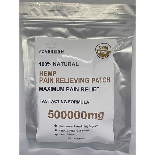 Sovereign Hemp Pain Relieving Patches (50)