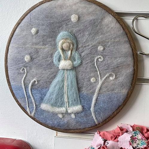 by Tonya - Felted Snow Queen Hoop