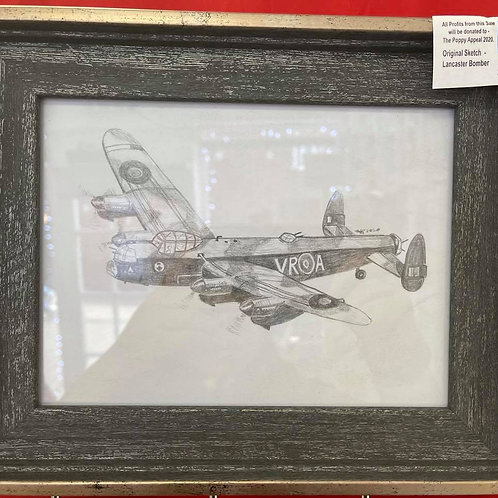 by Tonya - Original Sketch - Lancaster Bomber