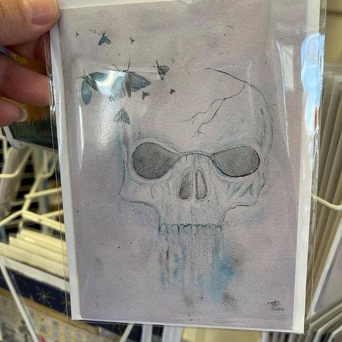 by Tonya - Printed Card - Skull
