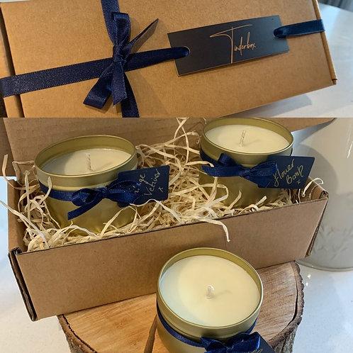 3 tin Candle Gift Set