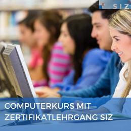 Computerkurs mit Zertifikatlehrgang SIZ