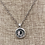 Thumbnail: Crystal Embedded Pendant Necklace