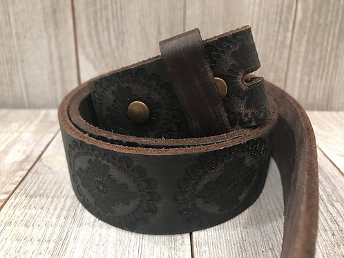 Earth Grey Leather Belt