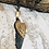 Thumbnail: Angel Wing Necklace with Carabiner Clasp and Gunmetal Ladder Chain