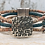Thumbnail: Antique Silver Hammered Slider with Printed Portuguese Cork Strands