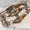 Thumbnail: Multi-fleck Portuguese Cork Bracelet with Silver Sliders