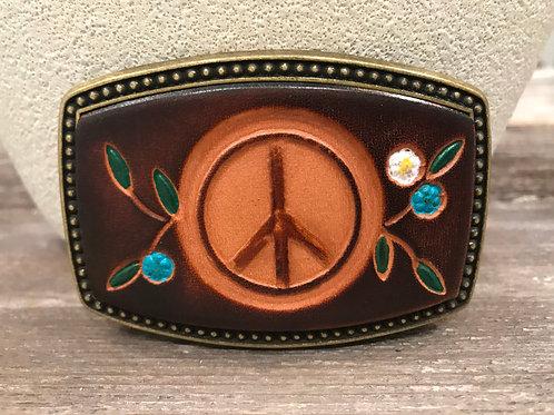 Leather peace buckle