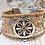 Thumbnail: Speckled Portuguese Cork Bracelet with Silver Flower Bar Slider
