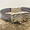 Thumbnail: Embossed leather bracelet with silver zamak slider and magnet