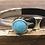 Thumbnail: Turquoise Leather Button Bracelet