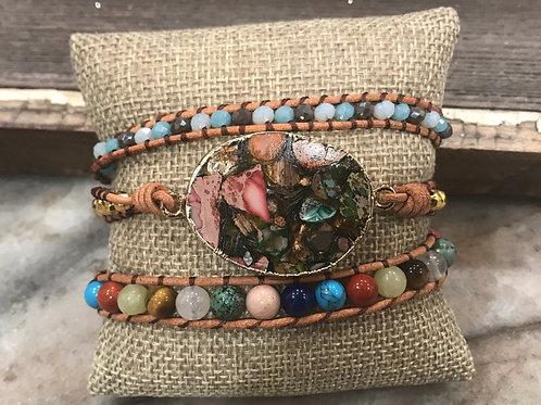 Triple Wrap Mosaic Bracelet