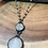 Thumbnail: Pyrite Cross Connector with White Agate Drop Necklace