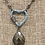 Thumbnail: Enamel Heart Necklaces with Carabiner Clasp