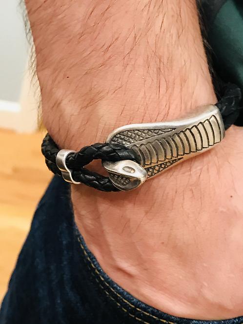Men's Cobra Silver Cuff Bracelet