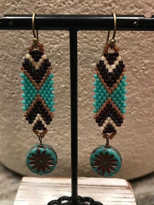 Turquoise Aztec Earrings