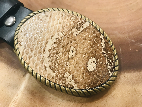 Snakeskin Belt Buckle