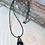 Thumbnail: Dainty Black Onyx ball Pendant on Pyrite Necklace