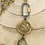 Thumbnail: Matte Gold Bee Pendant with Crystal Drop and Carabiner Clasp