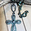 Thumbnail: Patina Soldered Cross with African Turq beads