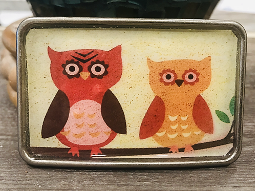 Owl Buddies Print Belt Buckle
