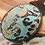 Thumbnail: Turquoise Leather Embossed Belt Buckle