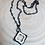 Thumbnail: Soldered Howlite Natural Stone Clover Necklace