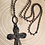 Thumbnail: Soldered Rust Cross with Beaded Rosary Chain