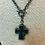 Thumbnail: Black Solder Stone Cross with Toggle Clasp