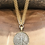 Thumbnail: Gold Bezel Silver Coin Necklace with Fishtail Necklace