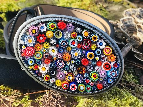 Millifiore Multi Floral Belt Buckle