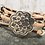 Thumbnail: Leopard Print Portuguese Cork with Silver Flower Slider and Magnetic Clasp