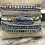 Thumbnail: Multi wrap kyanite, blue impression jasper and grey leather wrap bracelet