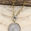 Thumbnail: Gold Rim Silver Coin Necklace