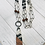 Thumbnail: Wood and Dotted Lucite Pendant with Beaded Chain