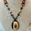 Thumbnail: Mookaite Pendant Necklace with Rosary Chain and Leather