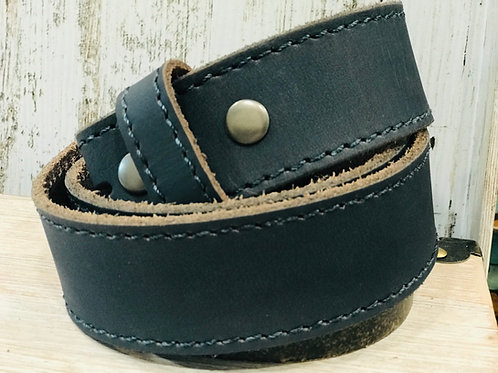 Sea green Leather Stitched Belt