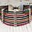 Thumbnail: Vintage Distressed Multi colored Leather Bar Bracelet