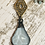 Thumbnail: Glass Aqua Pendant with Brass Filigree Connector and Crochet Necklace