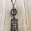 Thumbnail: Silver Filligree Blue Pendant & Crystal Necklace with Kyanite beads