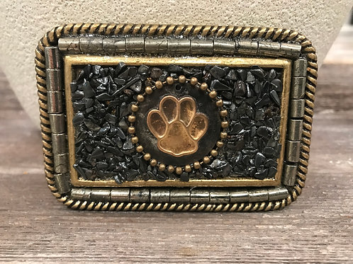 Square belt buckle with Paw print